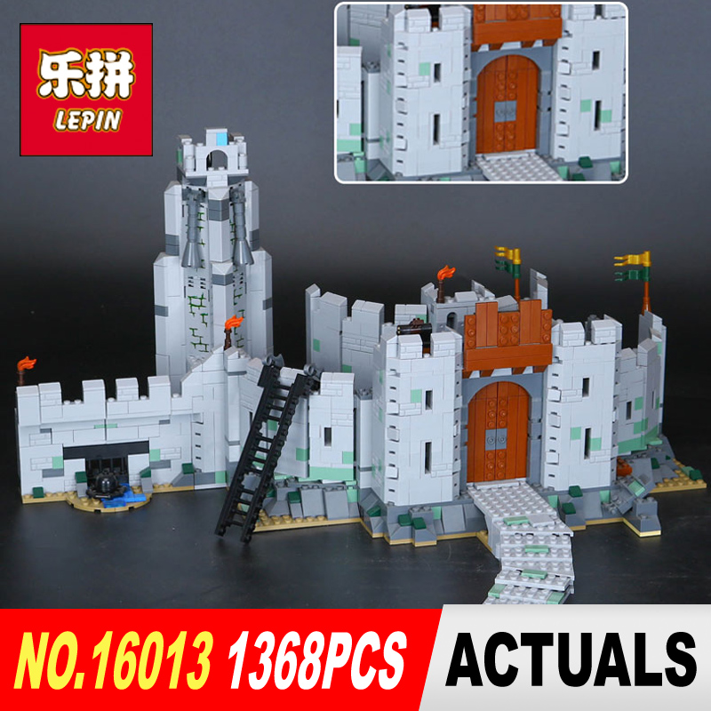 Lepin 16013 1368Pcs The Lord of the Rings Series The Battle Of Helm' Deep Model Building Blocks Bricks  Toys  9474 lepin 16018 756pcs genuine the lord of rings series the ghost pirate ship set building block brick toys compatible legoed 79008