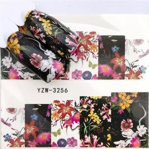 Image 5 - YWK 1 גיליון 2020 נמר/שחור עלה/פרח ציפורניים אמנות מים מדבקות העברת מדבקת מניקור מסמר קישוט