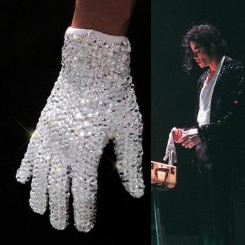 цена на MJ Michael Jackson ultimate collection crystal glove handmade100% Single Side