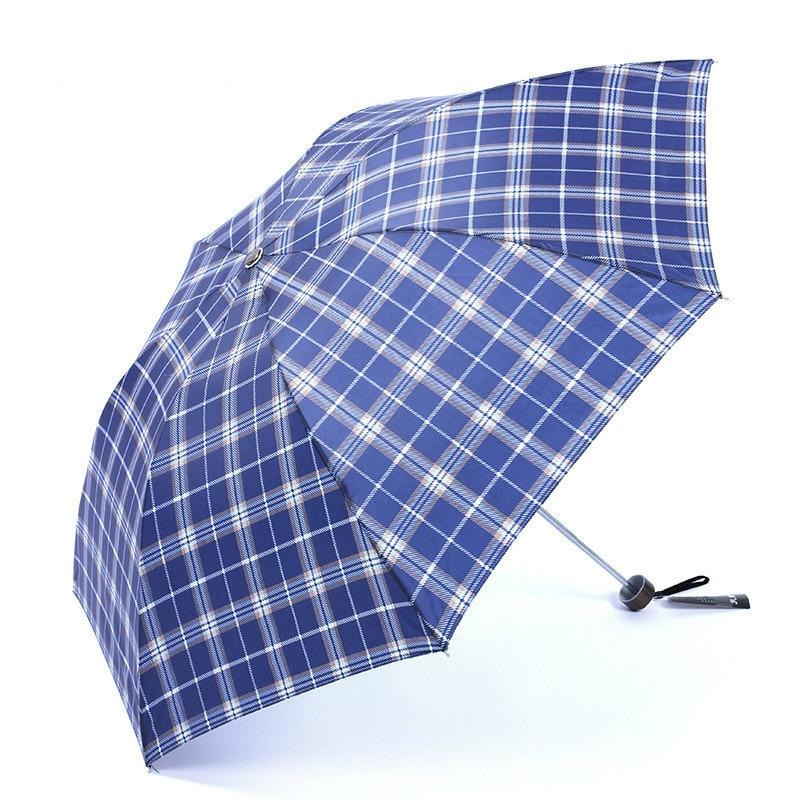 Quality merchandise classic lattice umbrella, rain, folding, sunshade, Paradise 339 days grid off super light umbrella Low price