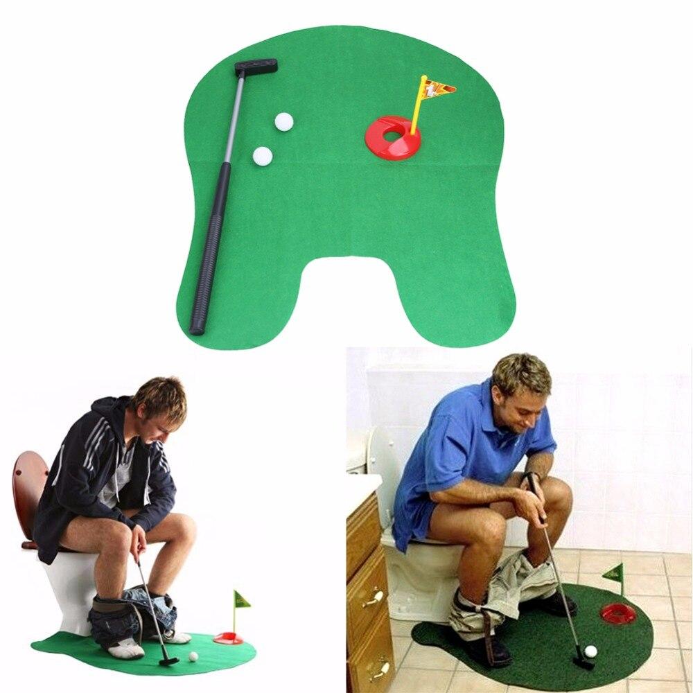 Juego de Golf para baño, Mini juego de Golf, juego de Golf, juego de novedad verde, de alta calidad para hombres y mujeres, broma práctica