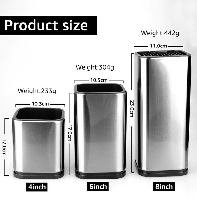 Knife Stand Holder For Kitchen Knife Stainless Steel Knife Holder Stand Block High End Kitchen Accessories 3