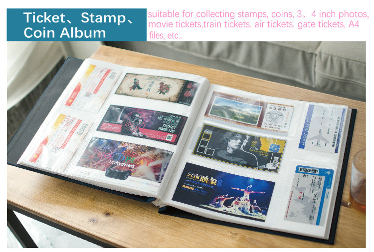 Creative Cute Coin Album Coin Collection 3 Inch Photo Albums For Stamps  Postage Travel Album Baby Memory