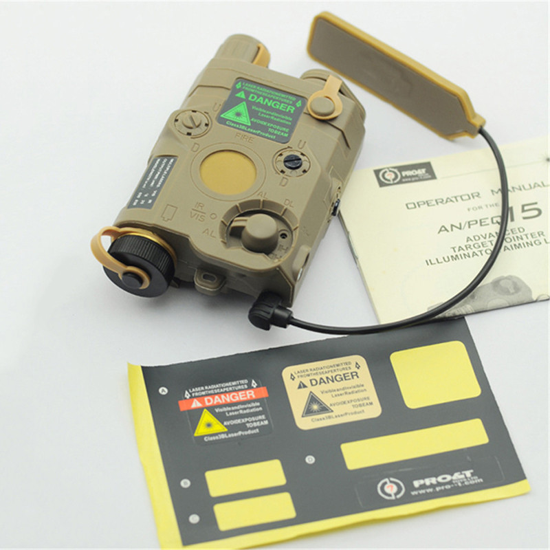 Tir Militaire Airsoft Gun Batterie Cas Fit 20mm Picatinny Rail Red Dot Laser et lampe de Poche Led Blanche