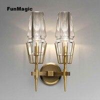 Современный настенный светильник металл/Стекло светильник для Спальня прикроватной тумбочке Настенные светильники коридоре бра освещени