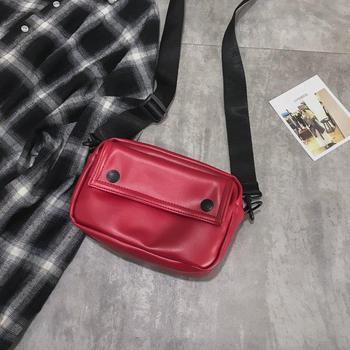 Messenger Bag Fashion Solid Color Girl Small Square Bag Simple Shoulder Bag 8