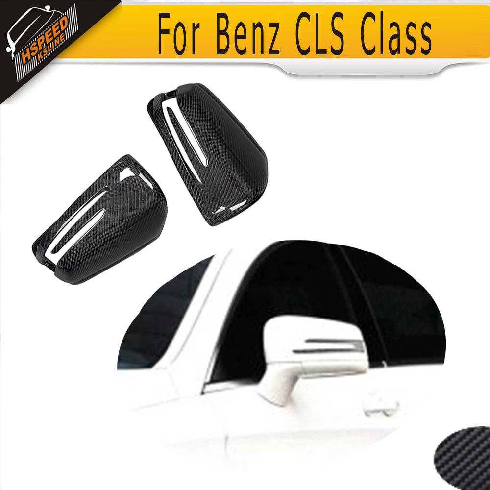 все цены на Replacement Carbon Car Side Mirror Cover For Mercedes Benz CLS Class W218 2011 - 2016 White Chrome онлайн