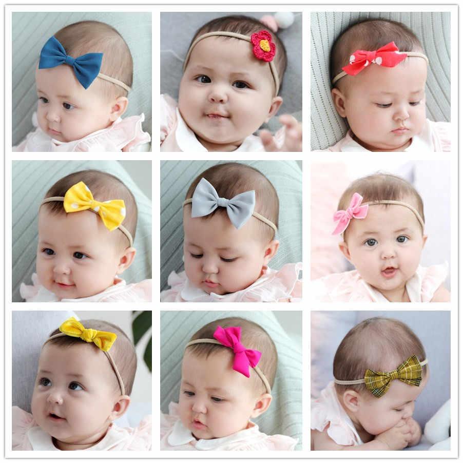 6d36ca33f0e01 66 Models cute bowknot headband girls kids hair bows head bands wrap  accessories for newbron hair