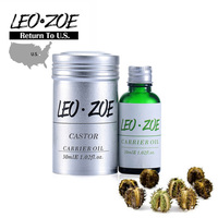 Well Known Brand LEOZOE Pure Castor Oil Certificate Origin US Authentication High Quality Castor Essential Oil 30ML