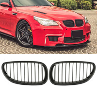 Hight Quality Car Front Fence Grill Grille Mesh For BMW E60 E61 5 Series 2003 2010 ABS Plastic 1Pair Hot Sale Car Styling Covers