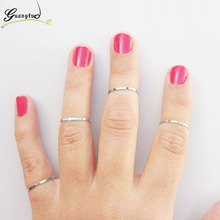2017 Hot Sale 4pcs Fashion Simple Midi Tip Finger Joints Rings Anillos For Wedding Wedding & Engagement Jewelry Knuckle Ring