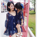 Mãe e filha vestidos de Mãe e filha saia Floral Chiffon Vestido de mãe e filha roupas Mãe vestido de verão 20 #