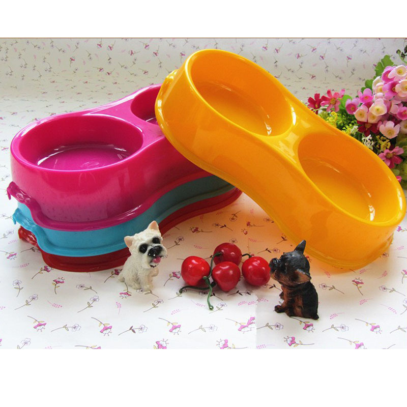 Free Shipping High Quality Accesorios Perros, Dual Port Pet Bowls For Cats, Drinking Feeder For Cats, Pet Dog Food Bowls Dish