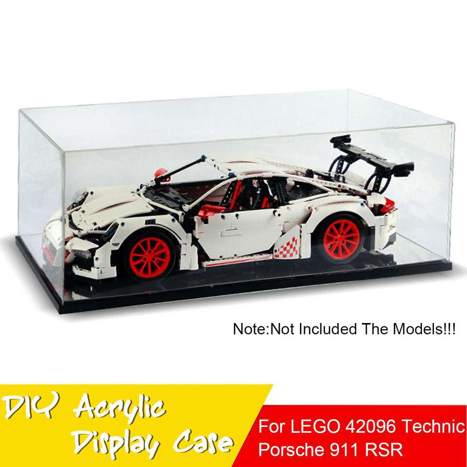 Acrylic Display Case Box For Lego 42056 For Bugatti Chiron For Porsche 911 Gt3 Rs For Technic Series Toy Blocks Without Model