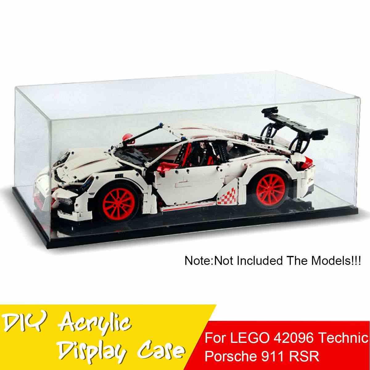 Pojemnik akrylowy pudełko na Lego 42056 dla Bugatti Chiron dla Porsche 911 GT3 RS dla Technic serii klocki (bez modelu)