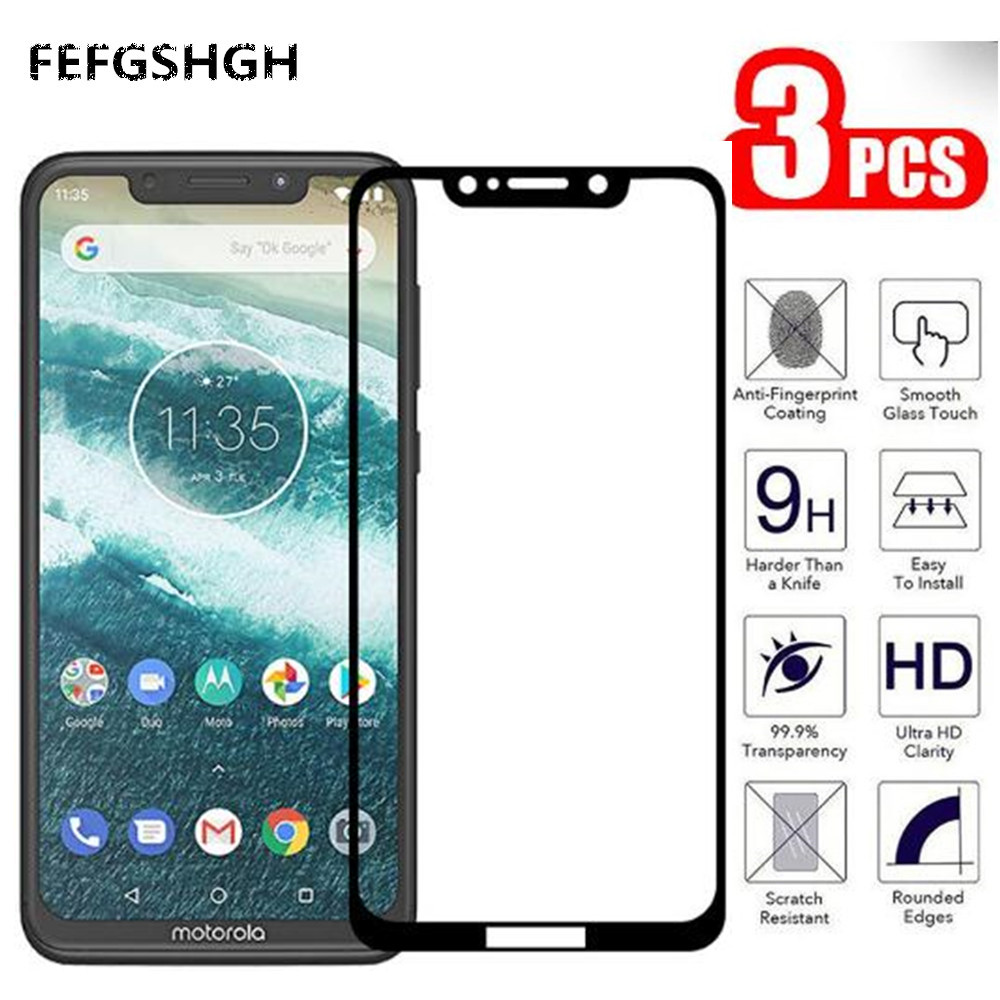 Tempered Glass For Motorola Moto G7 G6 Play Plus Power For Moto One Power E4 E5 Plus Play Go 5D 9D Full Glue Screen Protector image