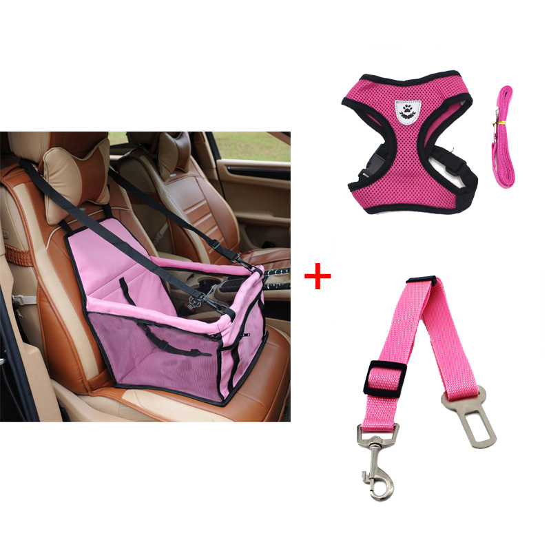 pawstrip Dog Booster Seat Dog Car Seat Basket Pet Safety Belt Mesh Dog Harness Vest Small