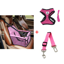 pawstrip Dog Booster Seat Dog Car Seat Basket Pet Safety Belt Mesh Dog Harness Vest Small Dog Leash Pet Travel Accessories