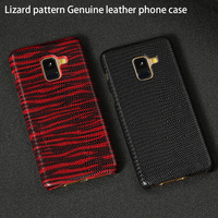 For Samsung A8 Case Lizard Texture Ultra Slim Back Cover For Samsung Galaxy Note 8 A9