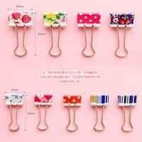 Cute Cartoon Kawaii Heart Dot Metal Clip Creative Strawberry Clips For Kids School Supplies Korean Stationery Free Shipping 683