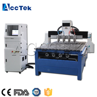 AccTek multihead wood lathe 1325 cnc router with rotary axis