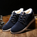 2017 New Outdoor Brand Fashion Winter Men Warm Casual Flats Canvas Male Suede Shoes Moccasins Plus Size Mens Shoes O384
