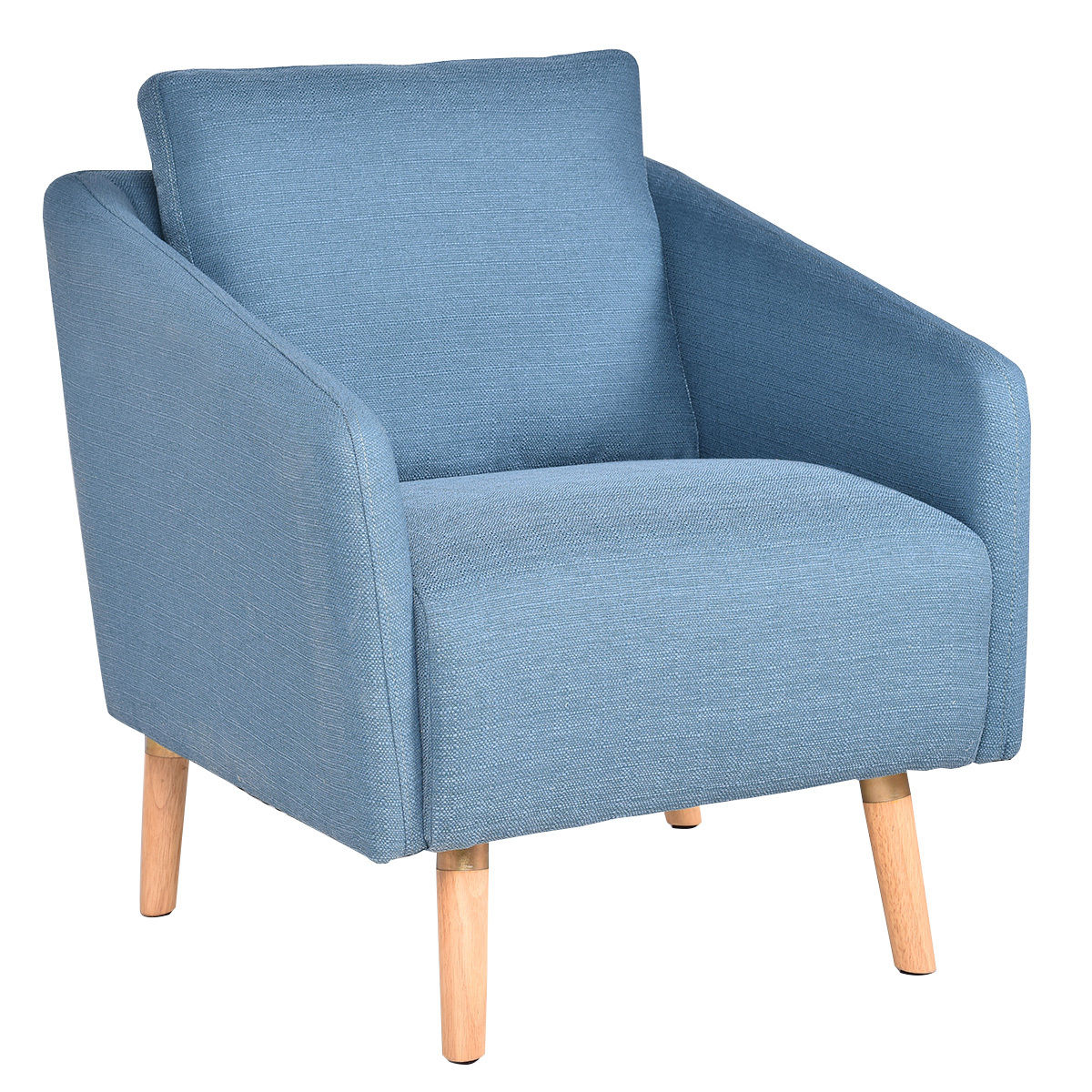 Giantex Living Room Accent Leisure Chair Modern Fabric Upholstered Arm Chair Single Sofa Chairs Home Furniture HW54386 anso contemporary teal color fabric accent chair