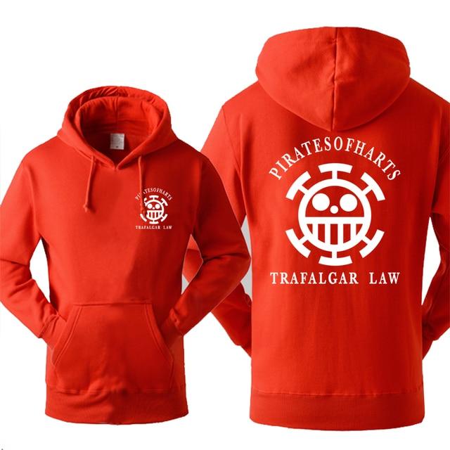 Japan Anime One piece Luffy Trafalgar Law Printing Men Hoodie