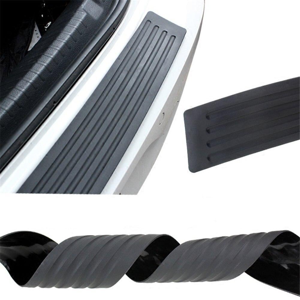 Universal Car Rear Bumper Sill//Protector Plate Rubber Cover Strip Guard Black