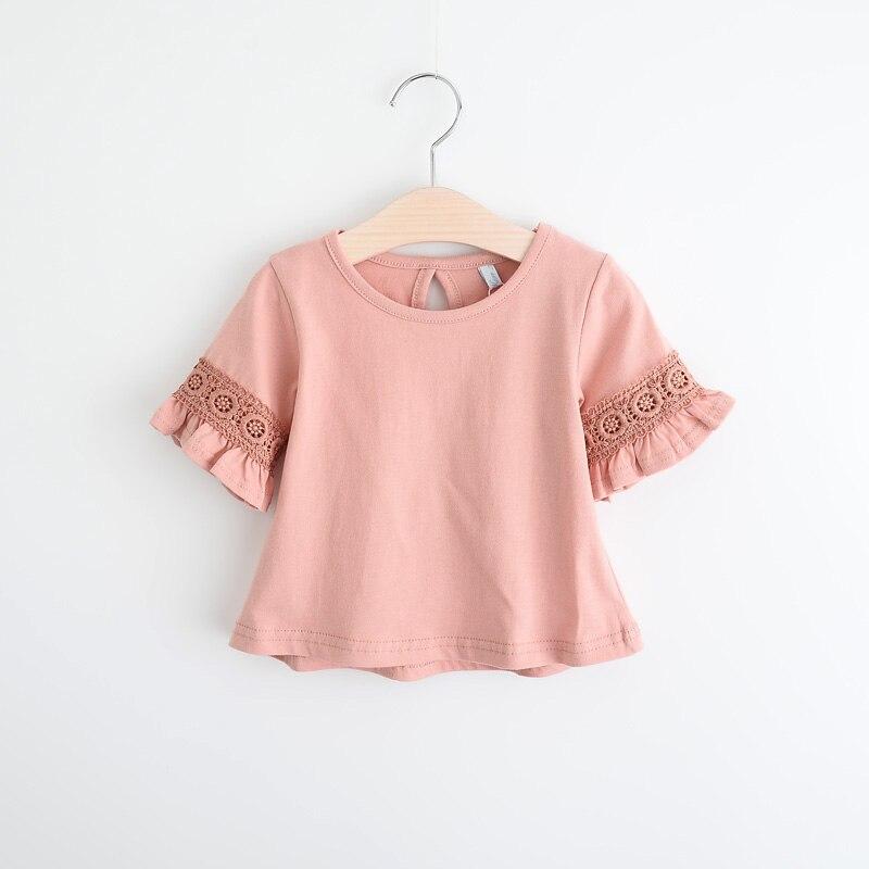 56bdbbc06c8a6b Nowy 2019 letnie dziewczyny dziecko kwiaty koszulka z krótkim rękawem T- shirt topy dzieci moda cute top tee