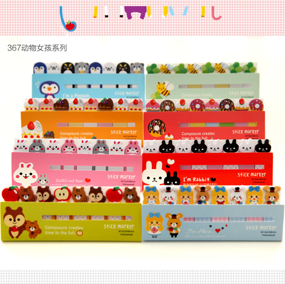 1pack/ lot Cartoon animals Self-Adhesive N Times Memo Pad Sticky Notes paper bookmark stationery office School supplies 2018 pet transparent sticky notes and memo pad self adhesiv memo pad colored post sticker papelaria office school supplies