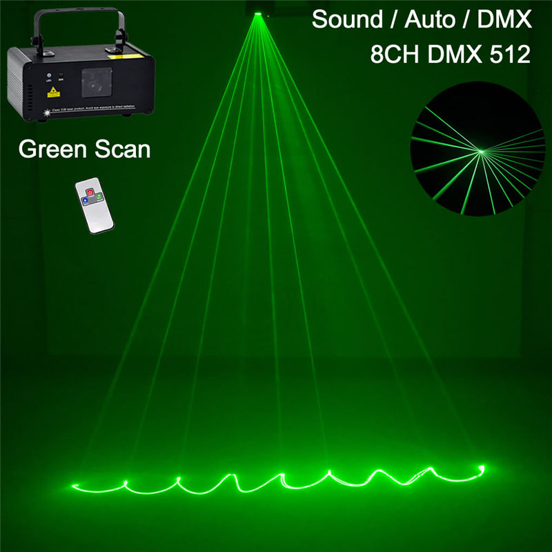 Mini 50mW Green Beam Laser DPSS Lights Scanner DMX Wireless Remote PRO Lamp DJ Disco Party Stage Projector Show Lighting G50 цена