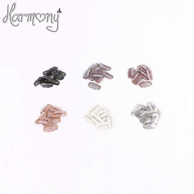 Free shipping!! 1000 pieces/bag 2.8 cm with 8 teeth I shape small hair extension snap clips 6 colors for your choices