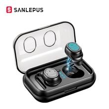 SANLEPUS TWS 5,0 беспроводные наушники Bluetooth наушники спортивные наушники стерео бас гарнитура Мини с двойным микрофоном для телефонов