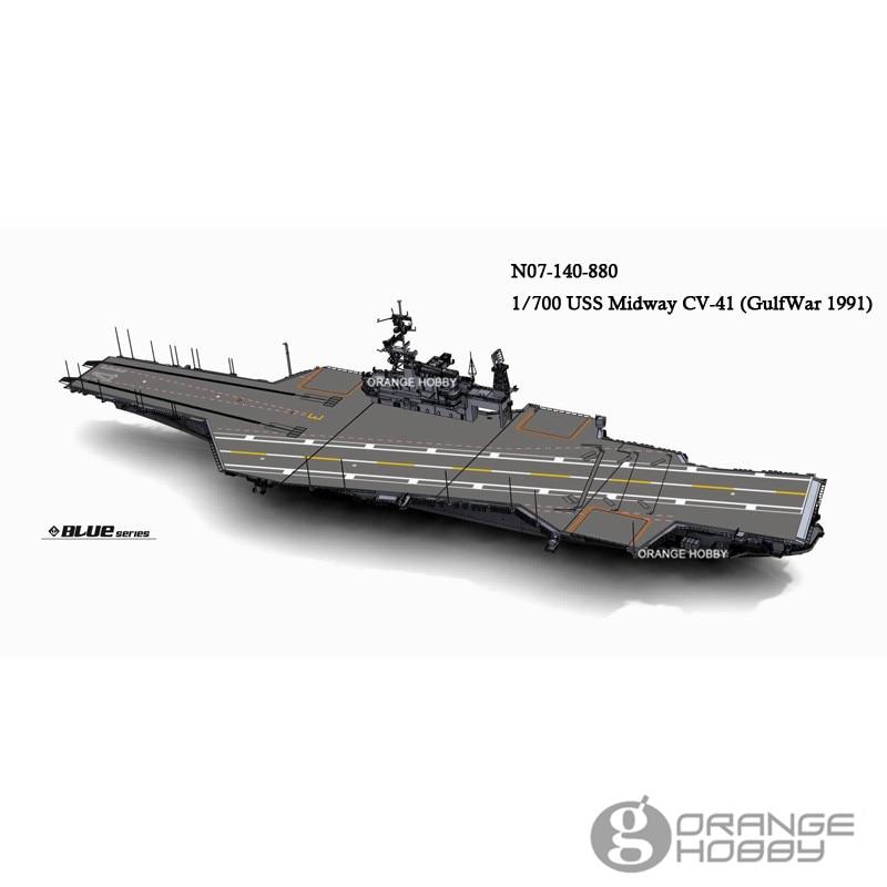 823e3b558047 OHS OrangeHobby N07140 1 700 U.S.S Midway CV41 GulfWar 1991 Ver. Water-Line
