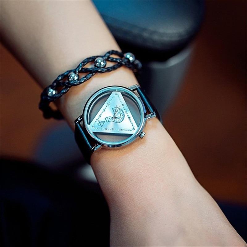 Σκελετό Τρίγωνο ρολόι Γυναίκες Μόδα - Γυναικεία ρολόγια - Φωτογραφία 4