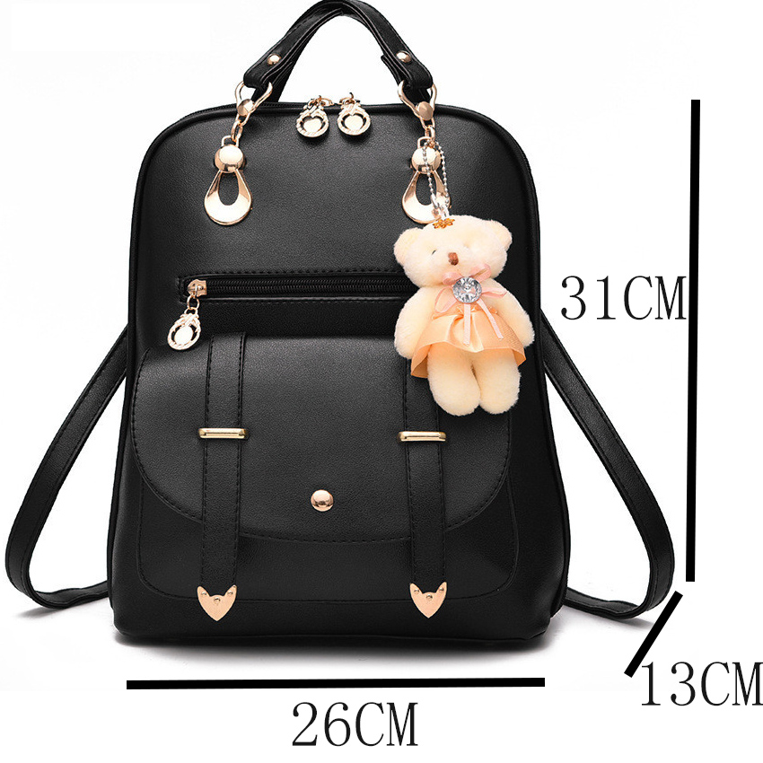 20d827ea3998 ... Female School Bags For Girls Backpacks For Women Bag Travel Shoulder  Bags sac a main PU Leather Backpack. 43% Off. 🔍 Previous. Next