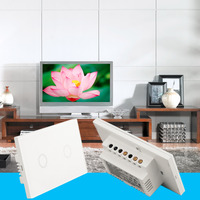 Newest Smart Home Black Crystal Glass Panel 1 Circuit US Plug Light Touch And Remote Control
