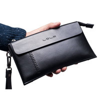 Luxury Brand 100% Genuine Leather Wallet Men Fashion Cowhide Male Clutch Purse Phone Wallet for Credit Cards Passport Holder
