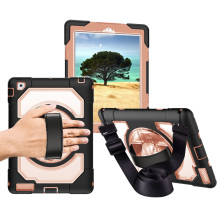 For iPad 2/3/4 Universal Miesherk Case with 360 Rotating Hard PC Kickstand Tablet Cover Hand Strap Neck for 9.7 inch