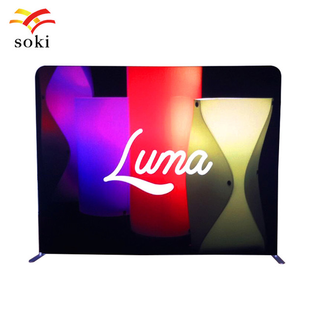 Fabric Exhibition Stand Game : 8ft exhibition booth straight tension fabric display stand with