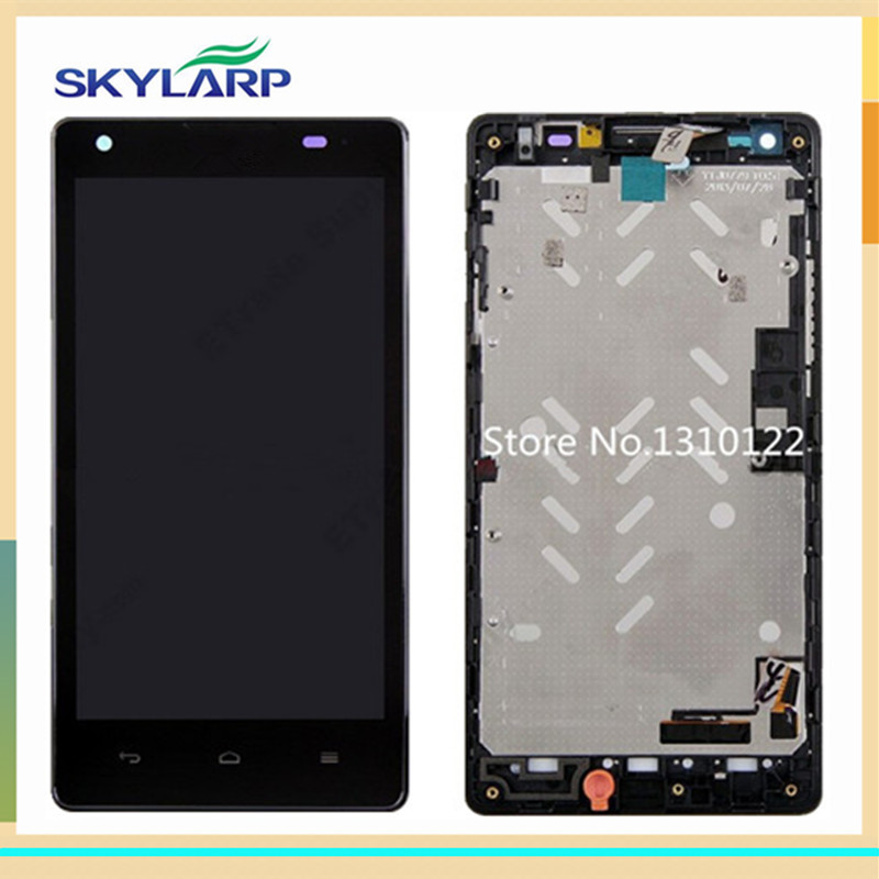Black LCD screen Module panel for Huawei Ascend G700 With Touch Screen Replacement (with Front Housing,with logo) replacement original touch screen lcd display assembly framefor huawei ascend p7 freeshipping