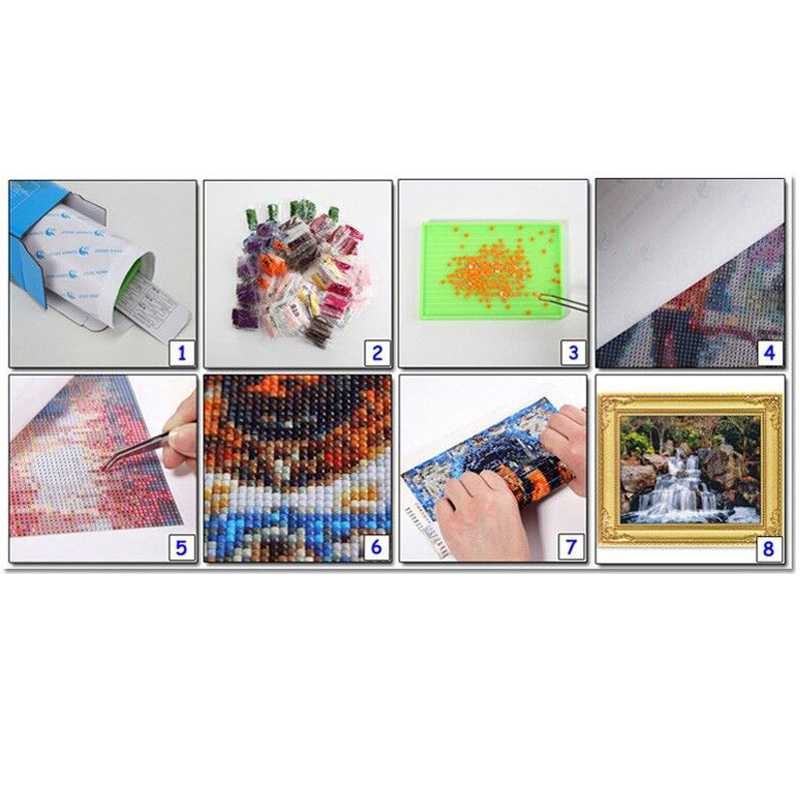 5D DIY Full Diamond Painting Cross Stitch Magical Dumbledore parrots Landscape Mosaic Picture gift Rhinestones Embroidery Z1117 in Diamond Painting Cross Stitch from Home Garden