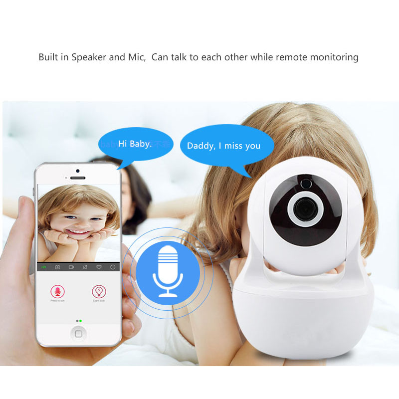 PTZ Camera 1080P HD Baby Monitor Wireless Dome ip Camera two way audio with infrared smart camera security pan-tilt cctv Camera