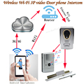 WIFI/IP video door phone/doorbell/video intercom,remote unlock door lock with motion detection,taking photo/video ,waterproof