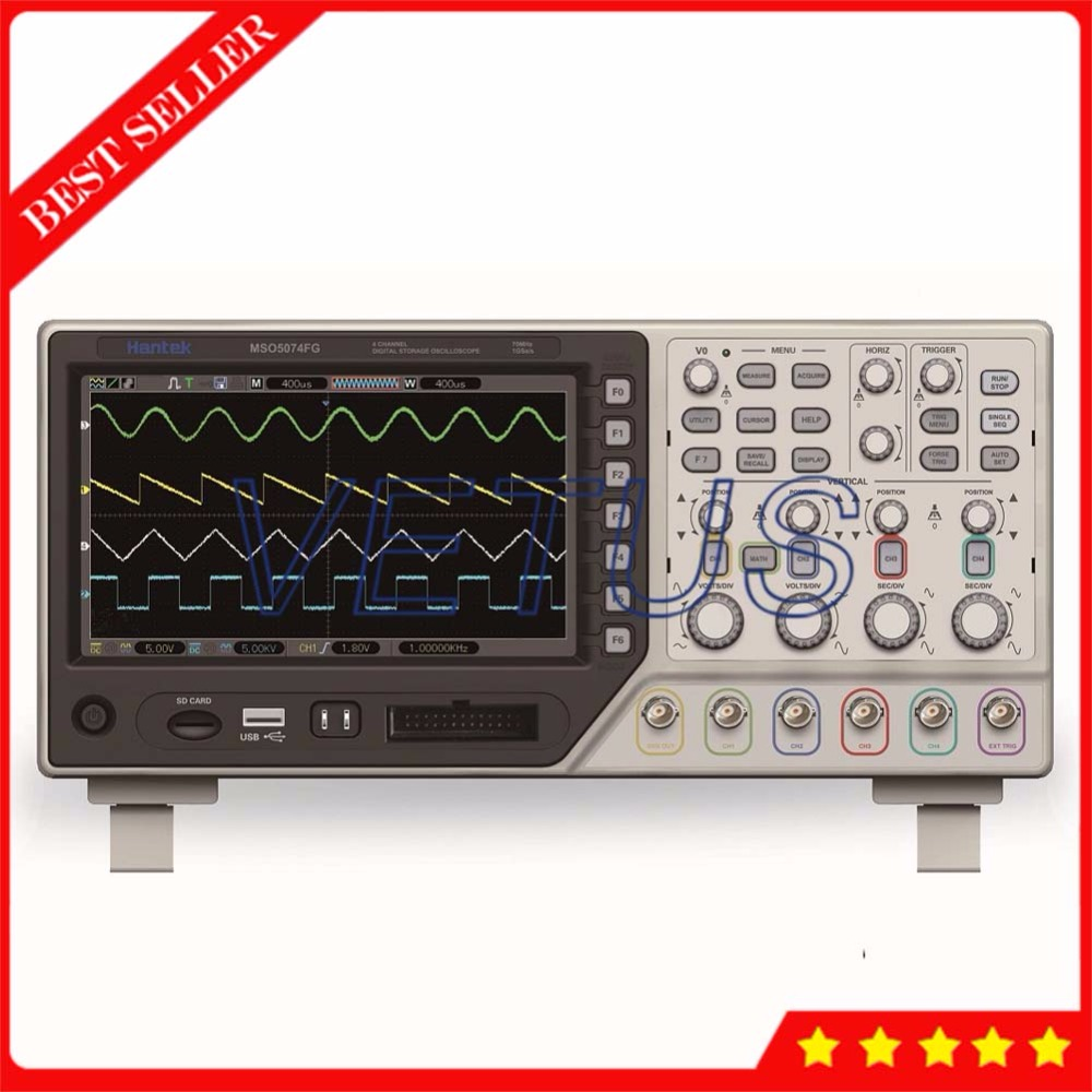 все цены на Hantek MSO5074FG 8 CH Logic Analyzer with 25MHz Arbitrary Waveform Generator 4 Channel Oscilloscope digital Scopemeter онлайн