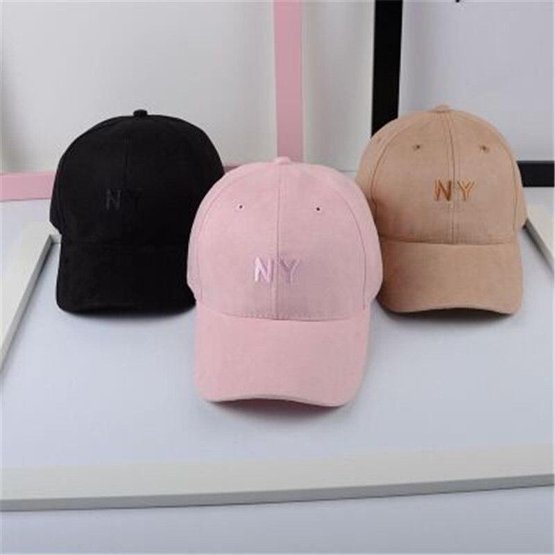 Letras gorra de béisbol deportes de gamuza ny cap hat hombres y mujeres  hueso sombreros del 124f6459c11
