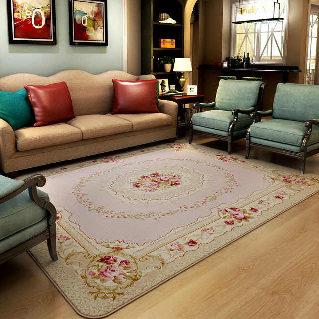 200cm*240cm Romantic Pink Rose Rug For Living Room,Elegant American Country  Style Carpet Bedroom,Branded Rug And Mat