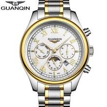 Nouvelle Entreprise montres Hommes De Luxe de Marque hommes montre en acier Plein bracelet Casual Quartz Montre Sport Militaire Horloge GUANQIN montres