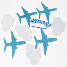 Clouds and Airplanes Garland Party Decorations Lovely Cartoon Banners Blue Baby Shower Kids Birthday Supplies lovely cartoon banners clouds and airplanes garland party decorations blue baby showers kids birthday supplies